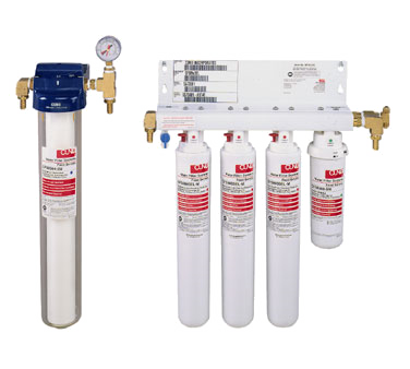 Water Filtration System Triple Cartridge Manifold with Separate