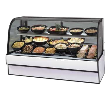 Curved Glass Refrigerated Deli Case