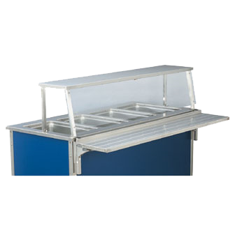 "60"" Cafeteria Single Deck with stainless steel front & end panel"
